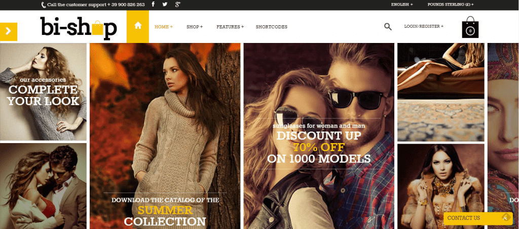 Bi-Shop WordPress Theme the Multipurpose All In One theme
