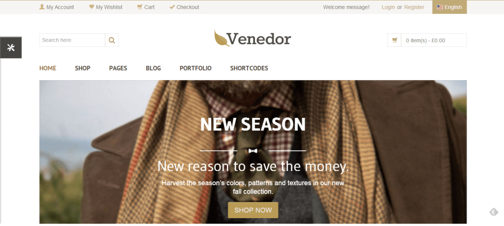 Venedor Ultimate Multi-Purpose Responsive Theme