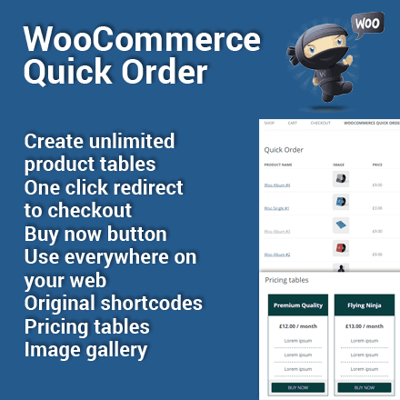 Aktuallizace pluginu WooCommerce Quick Order na verzi 1.1.4