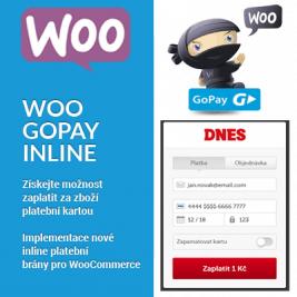 Woo GoPay Inline platební brána