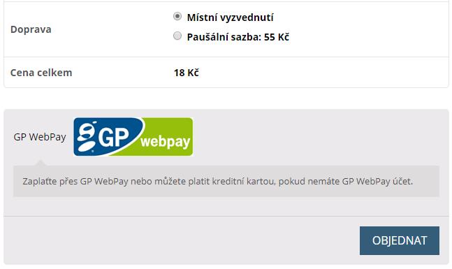 Platební brána GP webpay v pokladně WooCommerce