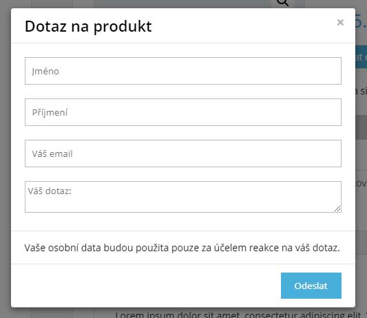 Zobrazení formuláře jako pop-up okno