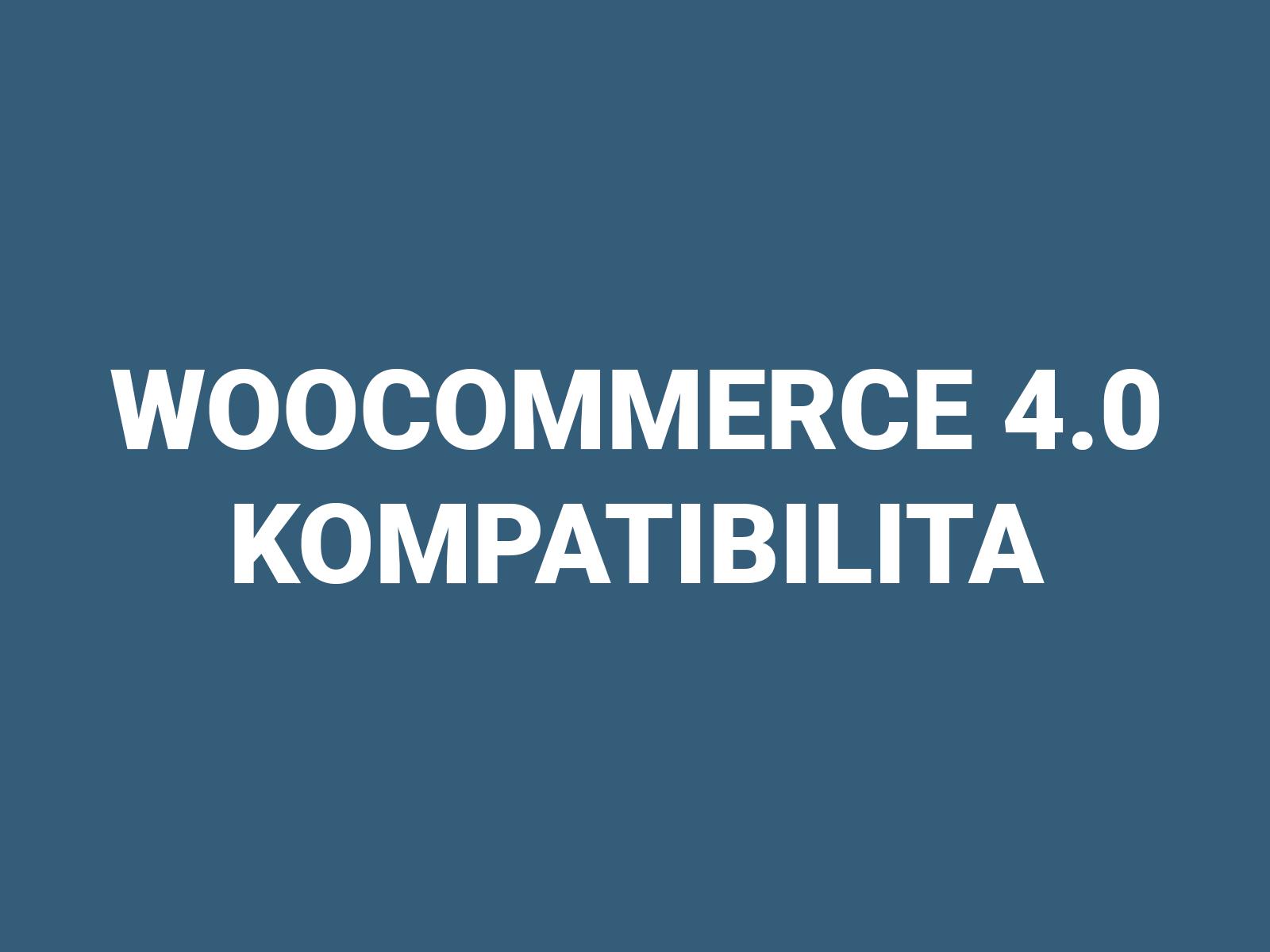 WooCommerce 4.0 kompatibilita
