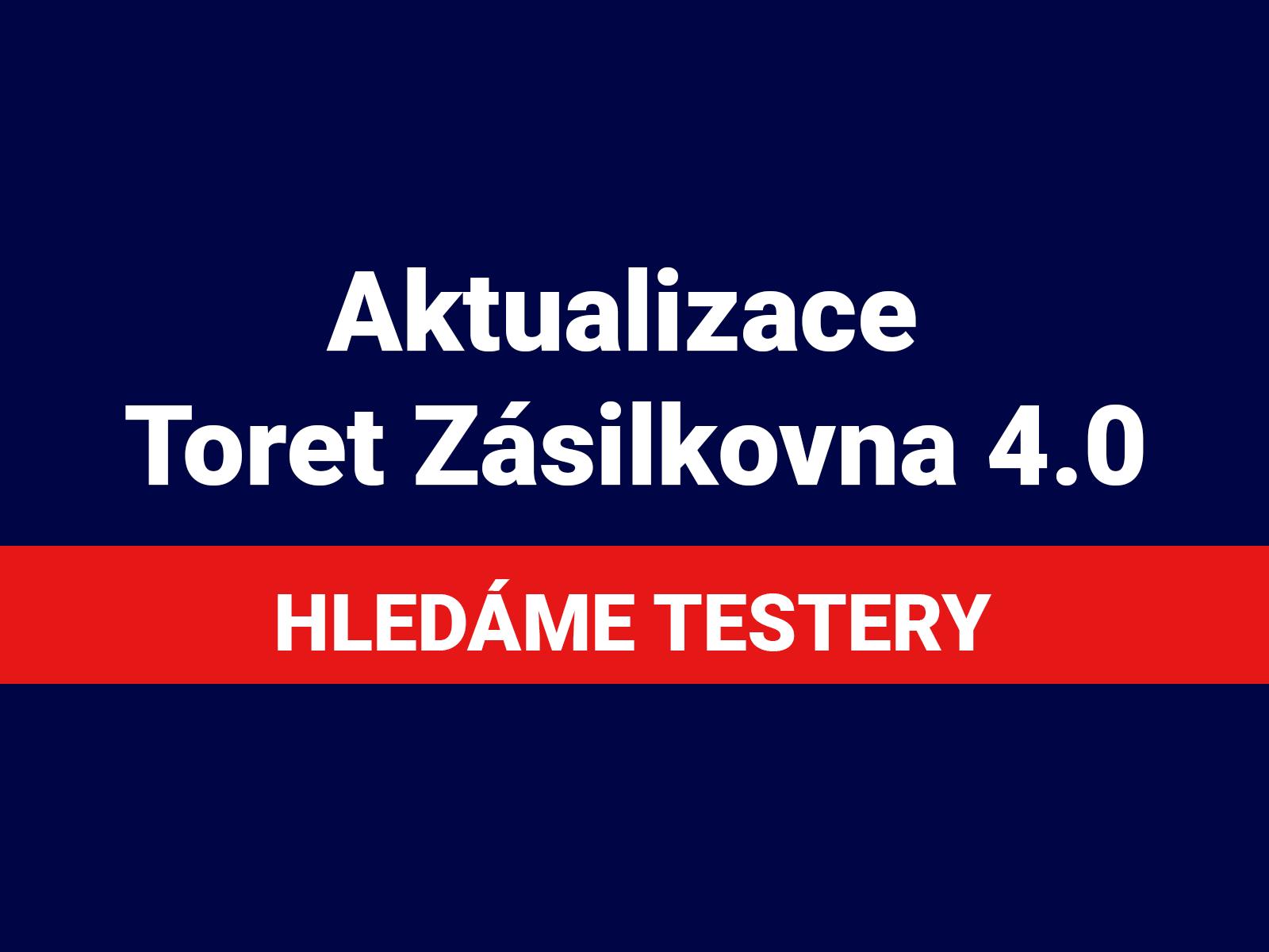 aktualizace nová modrá, hledáme testery finále
