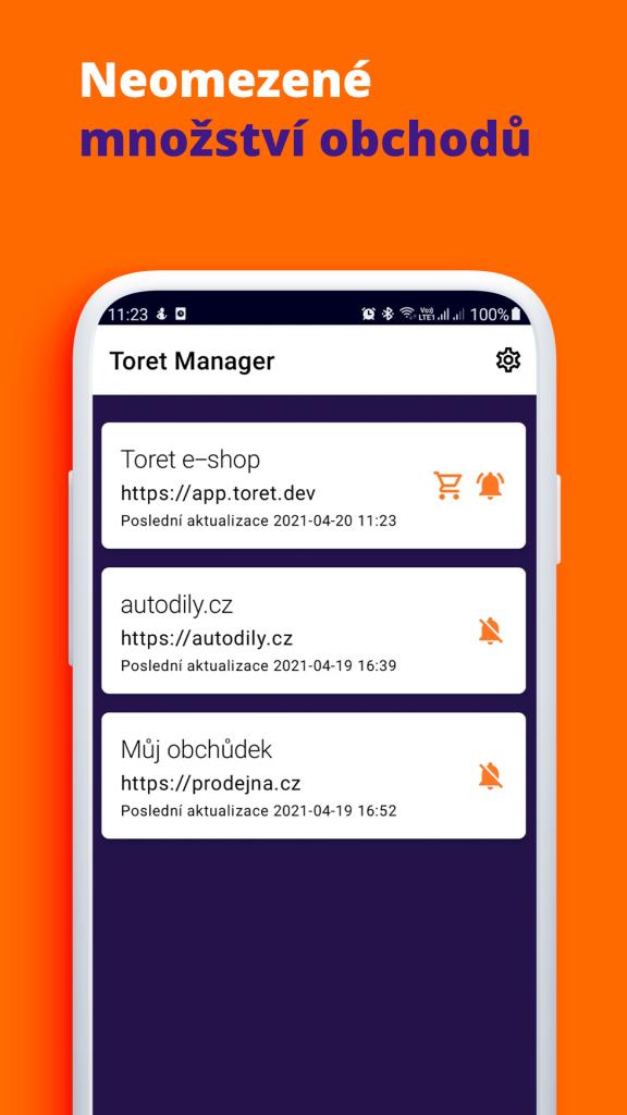 Toret WooCommerce Manager - neomezené množství obchodů