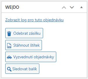 Toret WEDO - Box s akcemi objednávky