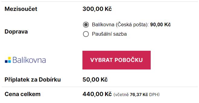 Toret Balíkovna - Výběr pobočky